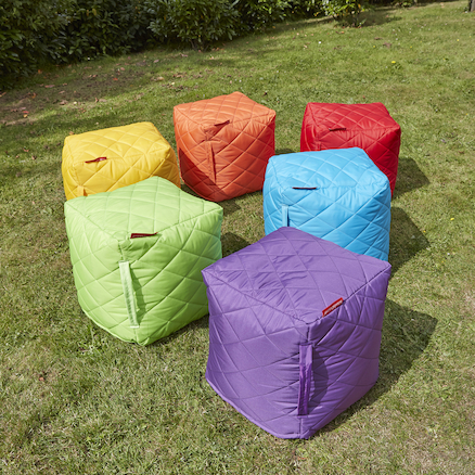Quilted Cube Beanbags 6pk  large