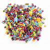 Plastic Straw Assorted Beads 1000pk  small