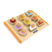 Wooden Shape Sorter Board 10pcs  medium
