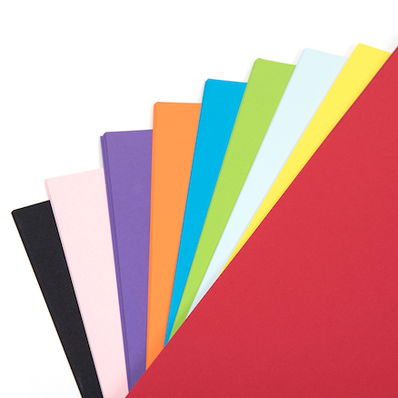 Brightly Coloured Mounting Paper 160gsm 100pk  large