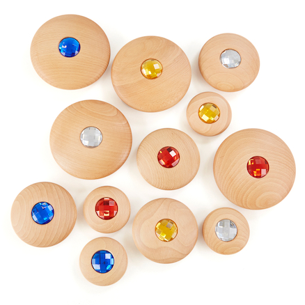 Wooden Jewel Pebbles  large