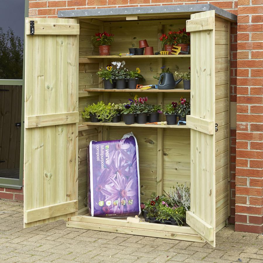 buy outdoor wooden lockable storage cupboard tts. Black Bedroom Furniture Sets. Home Design Ideas