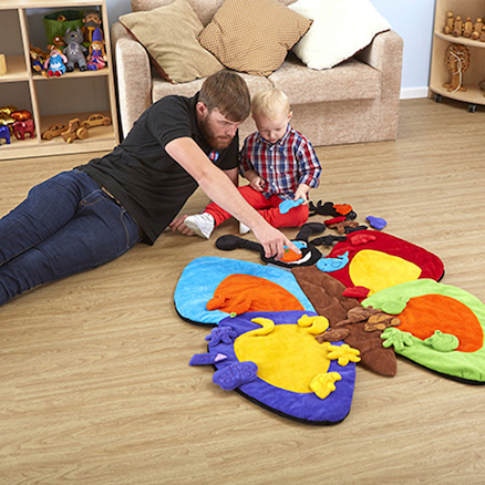 Colour Matching Butterfly Playmat  large