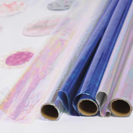 Assorted Iridescent Cellophane Rolls 3pk  large