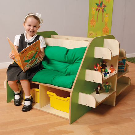 Forest Style Seat with Book Storage  large
