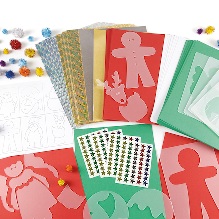Assorted Creative Christmas Craft Stencils 590pk  large