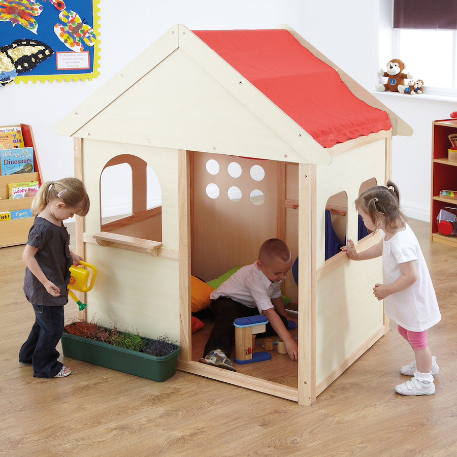 Buy Indoor Wooden Playhouse W140 x D97 x H160cm | TTS