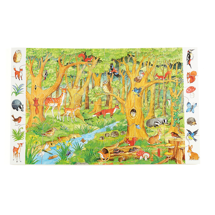 Forest and Sealife Floor Jigsaw Puzzle  large