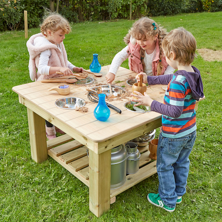 Outdoor Messy Activity Wooden Table  large