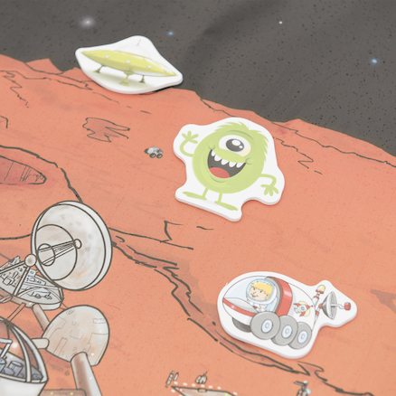 Space PVC Outdoor Story Mat  large