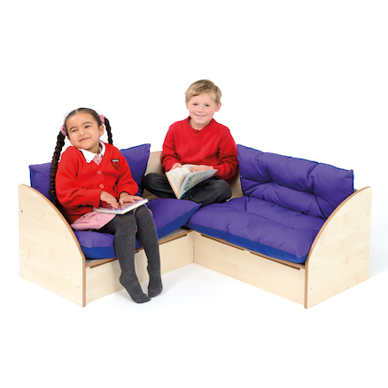 Infant Reading Corner Seating in Maple  large