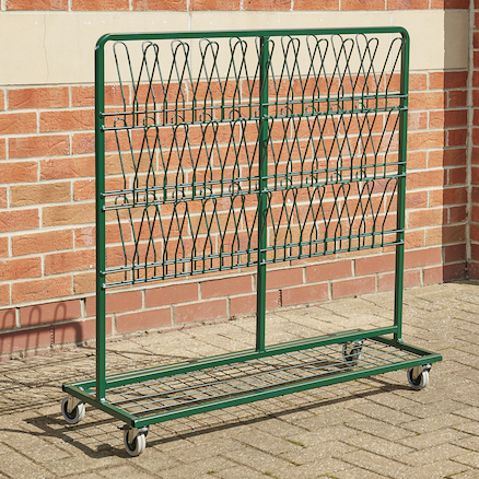 Metal Wellie Rack Green Double  large