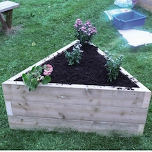 Triangular Wooden Grow Bed  medium
