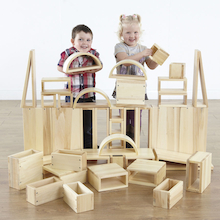 Giant Wooden Hollow Building Blocks  medium