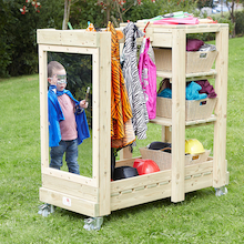 Wooden Outdoor Role Play Dress Up Storage Unit  medium
