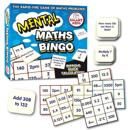 Mental Maths Bingo Game 6 Boards  large