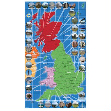 Map Of Uk To Buy.Uk Landmarks Map