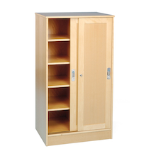 Large Beech Storage Cupboard  medium