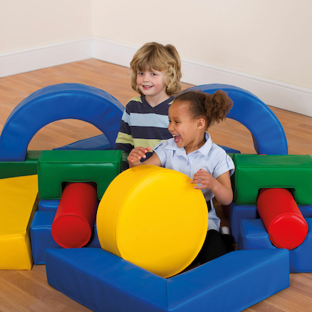 Portable Pack Away Soft Play Set 19pcs  large