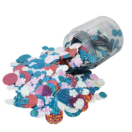Sequins Assorted 100g  large
