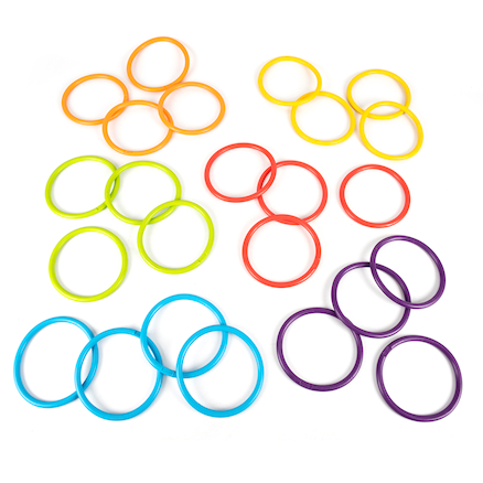 Soft Rubber Activity Rings 24pk  large