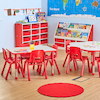 Valencia Classroom Furniture Set Red SH210mm  small