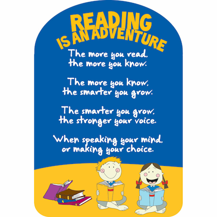 Reading Adventure Rules Playground Sign  large