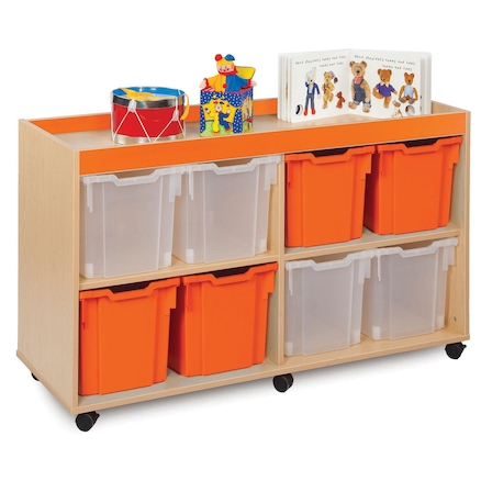 Bubblegum 8 Jumbo Tray Storage Unit  large