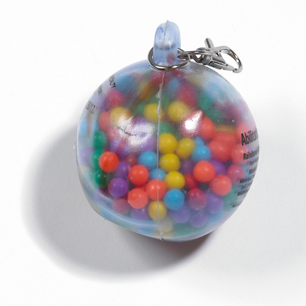 Rainbow Fidget Ball Keyring  large