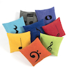 Coloured Music Note Cushions 8pk  small