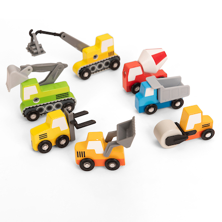 Wooden Construction Vehicles  large