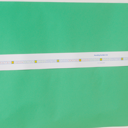 Dry Wipe Plastic Rounding Number Line  large