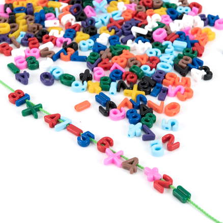 Threading Number Beads  large