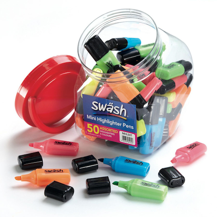 Swash Mini Assorted Highlighter Pens 50pk  large