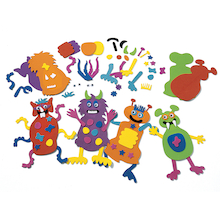Foam Shaped Monsters 12pk  medium
