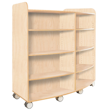 Curved Library Bookcase In Maple  medium