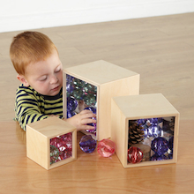 Wooden Mirror Boxes 3pk  medium