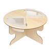 Round Indoor Table with Inset Trays  small