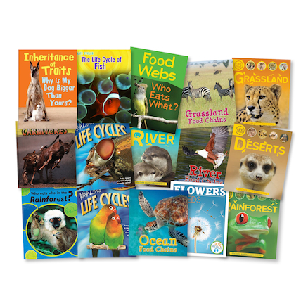 KS2 Life Cycles and Food Chain Books 15pk  large