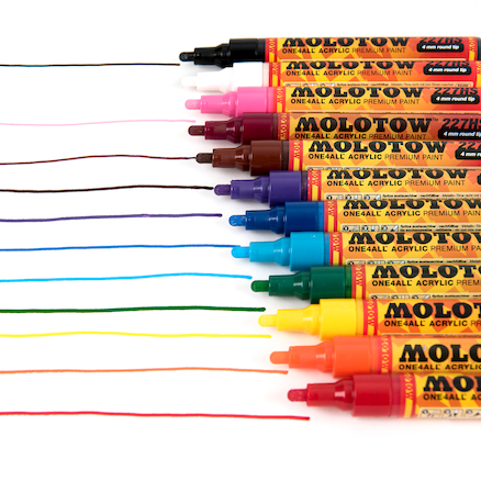 Molotow ONE4ALL Paint Markers 12pk  large