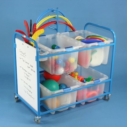 PE Storage Trolley and Whiteboard  large