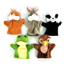 Role Play Wildlife Puppet Set 5pcs  medium