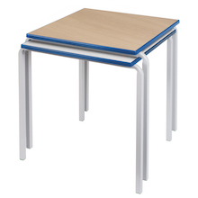 Crush Bent PU Edge Square Tables  medium