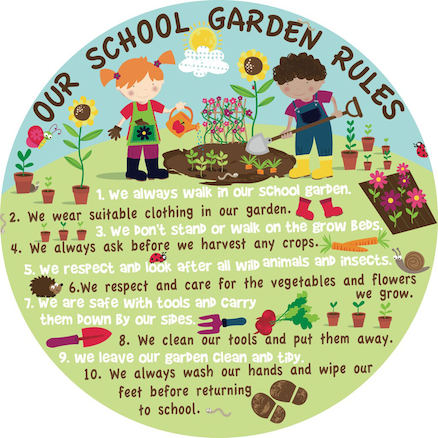 Our Garden Rules Signboard  large