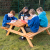 Rectangular Junior Height Picnic Bench 6 Seater  small