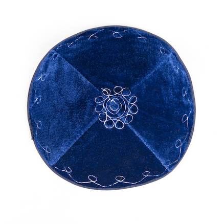 Embroidered Jewish Cap  large