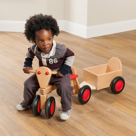 Wooden Toddler Trike \x26 Trailer  large