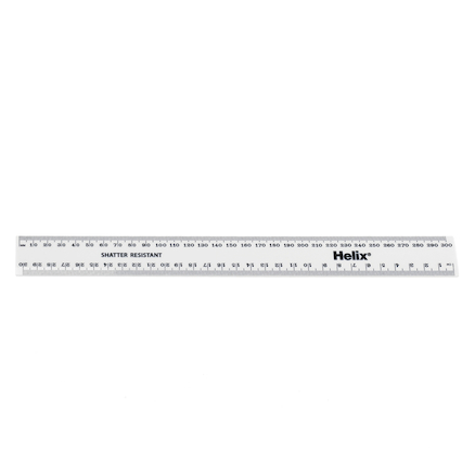 White Durable Plastic 30cm Ruler 30pk  large