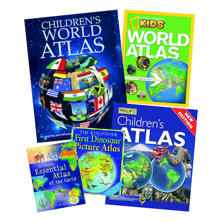 World Atlas Books 5pk  large