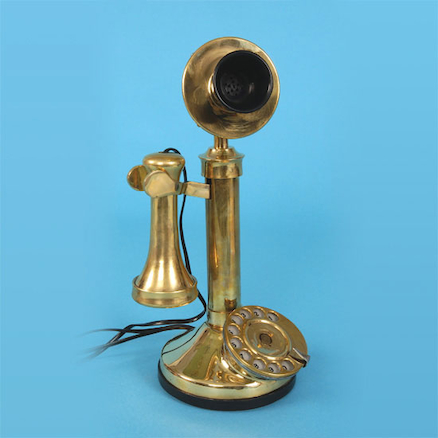 Victorian Candlestick Telephone Replica 30 x 11cm  large
